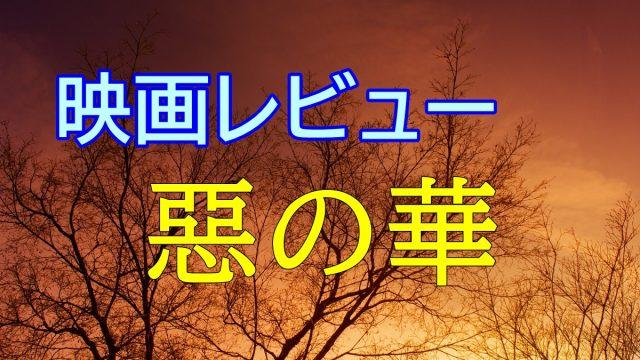 【Noriの映画レビュー】惡の華 途中まで面白かったが後半グダグダ感が・・・!?